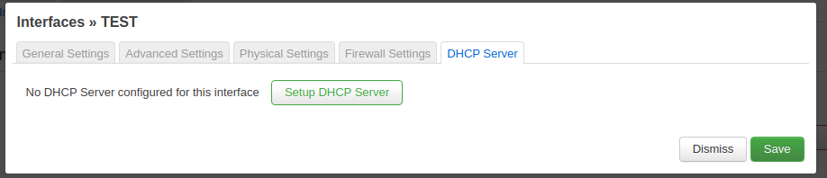 Enable DHCP service.